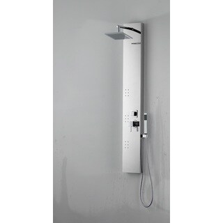 Rectangle Wall Mount CUPC Approved Stainless Steel Shower Panel In Chrome Color