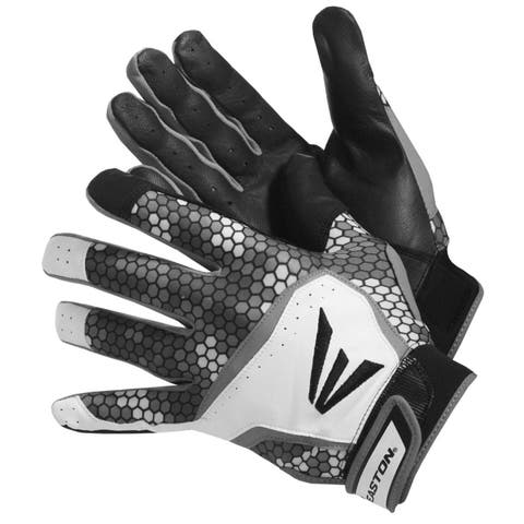 Easton HS7 Men's Batting Gloves Black Grey White