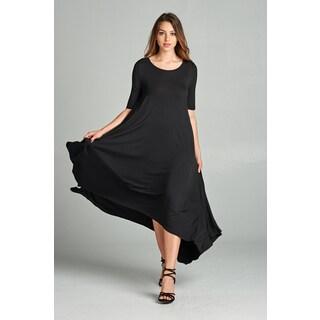 Spicy Mix Isla Short Sleeve Hi-Lo Tunic Maxi Dress