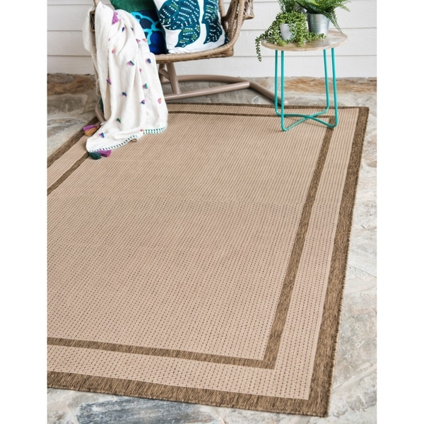 Unique Loom Outdoor Border Area Rug