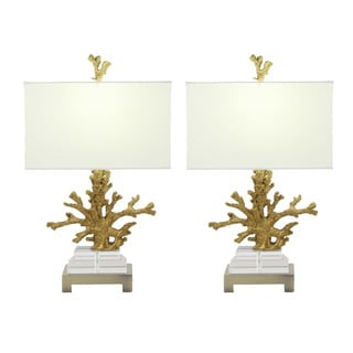 Urban Designs Couture Coral 26-inch Table Lamp (Set of 2)