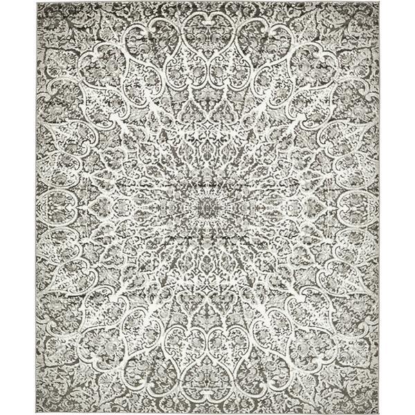 Sofia Dark Grey Geometric Area Rug (8'x10')