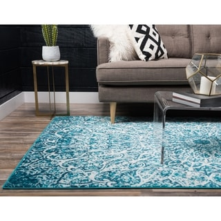 Sofia Blue Geometric Area Rug (8'x10')