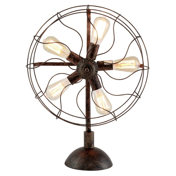 Hughes Industrial Fan Table Lamp