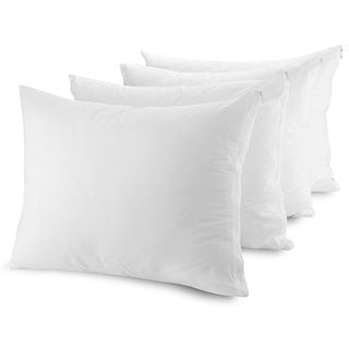 Zippered Poly/ Cotton Pillow Protectors (Set of 4)