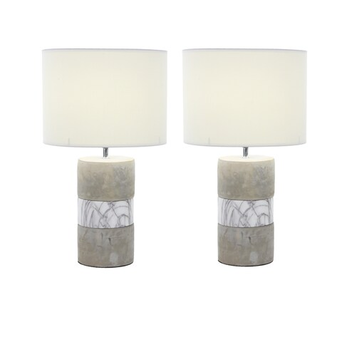 Urban Designs Elegant Concrete 24-inch Table Lamp (Set of 2)