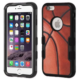 Insten Brown/ Black Basketball Tuff Hard Snap-on Dual Layer Hybrid Case Cover For Apple iPhone 6 Plus/ 6s Plus