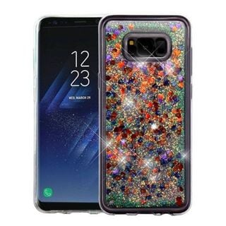 Insten Multi-Color Hearts Quicksand Hard Snap-on Case Cover For Samsung Galaxy S8