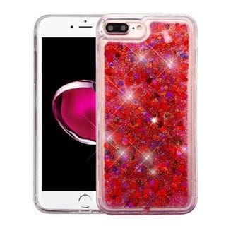 Insten Multi-Color Hearts Quicksand Hard Snap-on Case Cover For Apple iPhone 7 Plus