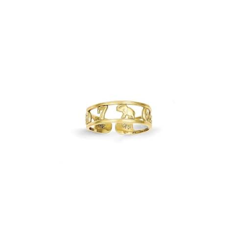 Versil 10 Karat Gold Luck Toe Ring