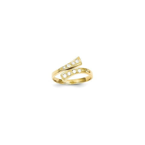 10 Karat Gold CZ Toe Ring
