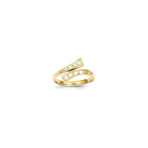 Versil 10 Karat Gold CZ Toe Ring