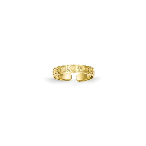 10 Karat Gold Heart Toe Ring