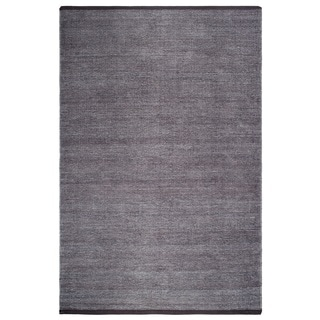 Fab Habitat 100% Recycled Cotton Flat Weave Handwoven Floor Mat Area Rug Waterloo Grey 6' X 9'
