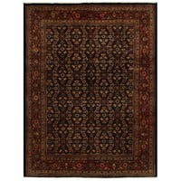 Herat Oriental Persian Hand-knotted Tribal Mahal Wool Rug (9'10 x 12'10)