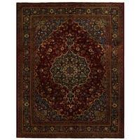 Handmade Herat Oriental Persian Tribal Mashad Wool Rug (Iran) - 10' x 12'9