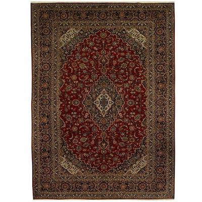 Handmade One-of-a-Kind Kashan Wool Rug (Iran) - 9'11 x 14'