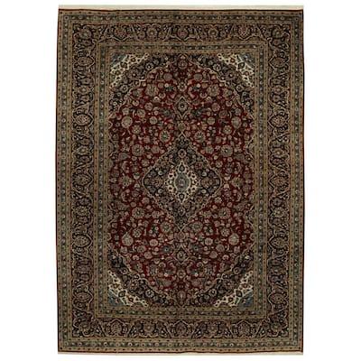 Handmade One-of-a-Kind Kashan Wool Rug (Iran) - 9'8 x 13'7