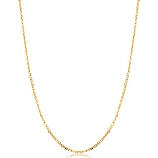 Fremada Italian 14k Yellow Gold Cable Chain Necklace
