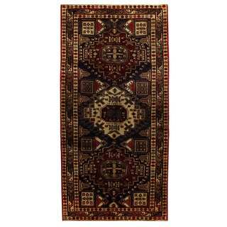 Herat Oriental Persian Hand-knotted Tribal Ardabil Wool Runner (4'8 x 9'7)