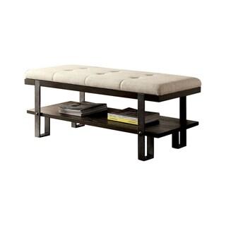 Aldor Upholstered Industrial Storage Bench
