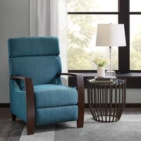 Madison Park Arthur Blue Push Back Recliner