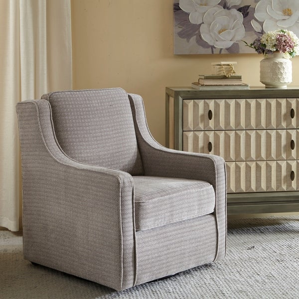 Madison Park Lois Grey Swivel Chair. Opens flyout.