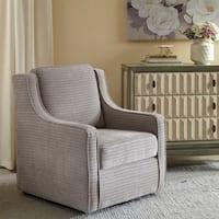 Madison Park Lois Grey Swivel Chair