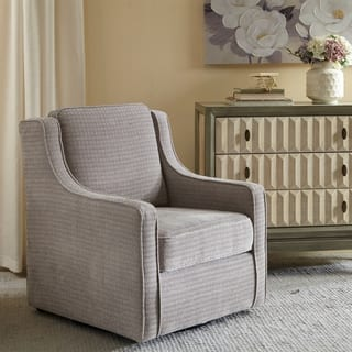 Madison Park Lois Grey Swivel Chair Living Room Chairs For Less  Overstock com