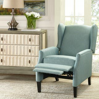 wing chairs for living room. Madison Park Loda Blue Push Back Recliner Wingback Chairs  Green Living Room For Less Overstock com