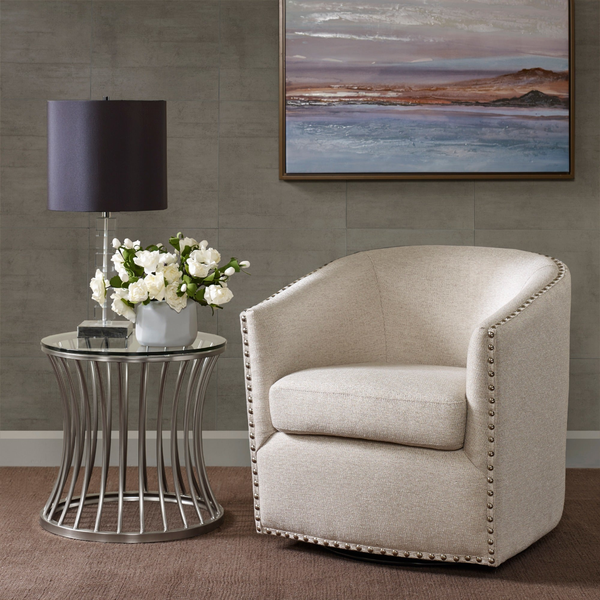 Madison Park Memo Swivel Chair 2-color Option & Buy Swivel Living Room Chairs Online at Overstock.com | Our Best ...