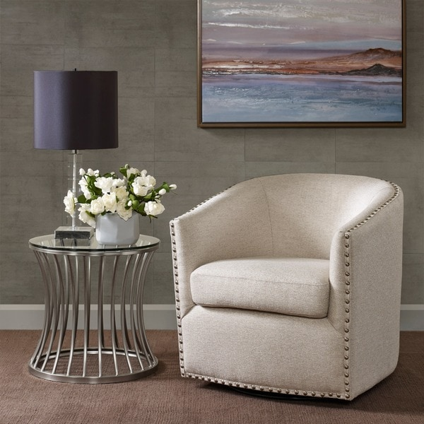 Stupendous Shop Madison Park Memo Swivel Chair 2 Color Option Ships Caraccident5 Cool Chair Designs And Ideas Caraccident5Info