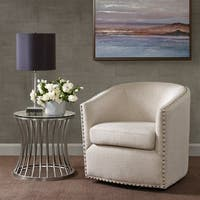 Madison Park Memo Natural Multi Swivel Chair