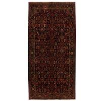 Herat Oriental Persian Hand-knotted Tribal Hamadan Wool Runner (4'10 x 10') - 4'10 x 10'