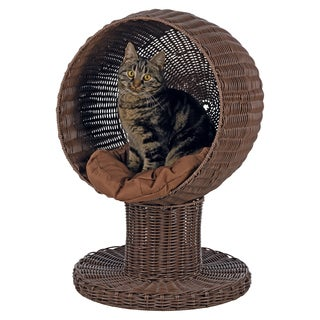 Rattan Cozy Cushion Cat Cave Bed