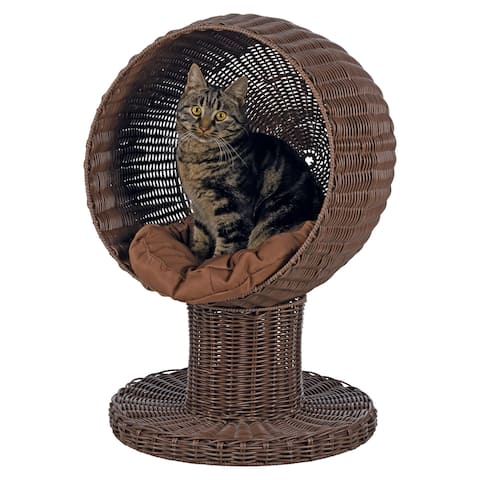TRIXIE Rattan Cozy Cushion Cat Cave Bed