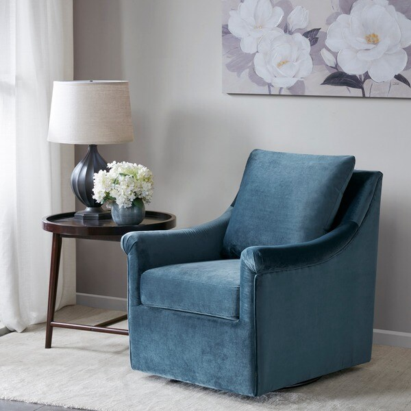 Pleasing Shop Madison Park Morton Blue Swivel Chair Ships To Canada Caraccident5 Cool Chair Designs And Ideas Caraccident5Info