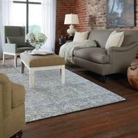 Gertmenian Avenue33 Blue Hand-tufted Wool Rug - 5' x 7'