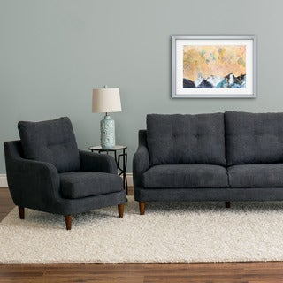 CorLiving Victoria Fabric 2pc Chair and Sofa Set