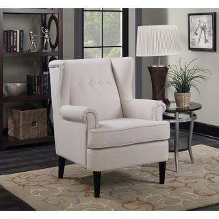 Lyke Home Winston Rolled Arm Accent Chair