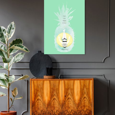 Oliver Gal 'Maggie P. Chang - Pineapple Peace' Canvas Art