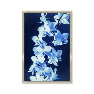 Oliver Gal 'Orchid Sun Print Cyanotype' Framed Art
