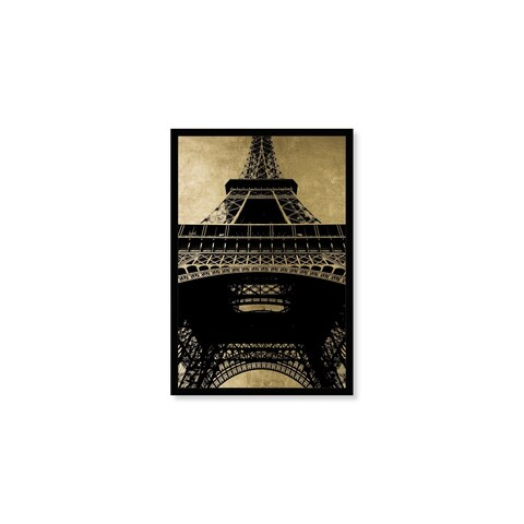 Oliver Gal 'Effiel Tower Gold Sky' Framed Canvas Art