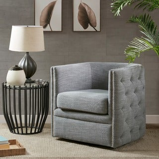 Madison Park Wilmette Slate Swivel Chair