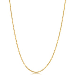 Link to Fremada Italian 14k Yellow Gold 1-mm Diamond-cut Round Wheat Chain Necklace Similar Items in Necklaces