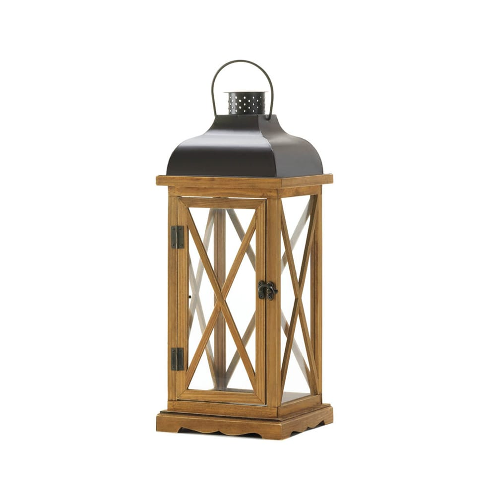 Koehler Home Decor Large Hayloft Wooden Candle Lantern (C...