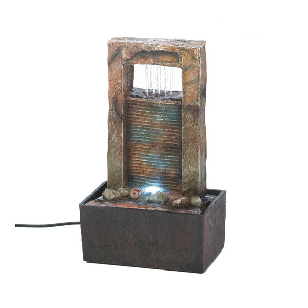 Koehler Home Decor Cascading Water Tabletop Fountain Free Shipping Today 16340570