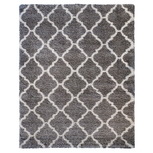 Gertmenian Avenue33 Ultimate Grey Tile Shag Rug - 9'5 x 13'1