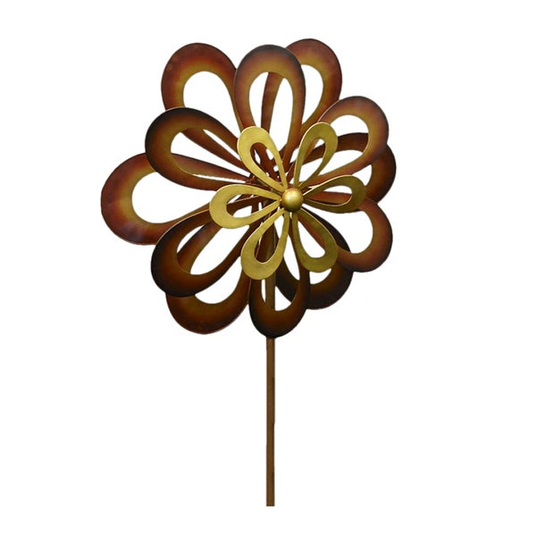 Koehler Home Decor Dancing Daisy Garden Windmill Spinner