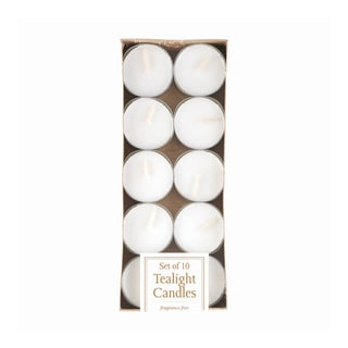Koehler Home  Decor  White Tealight Candles Pack Of 10